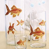Wallies Goldfish Self Adhesive Stickers