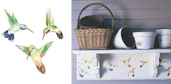 Wallies Hummingbirds Cutouts - Kids Wall Decor Store
