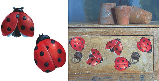 Wallies Ladybug Cutouts - Kids Wall Decor Store
