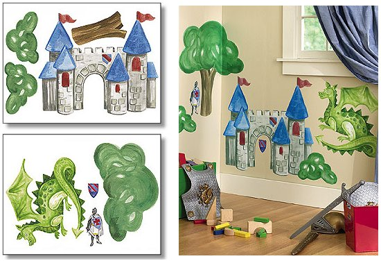 Wallies Medieval Times Big Wall Mural - Kids Wall Decor Store