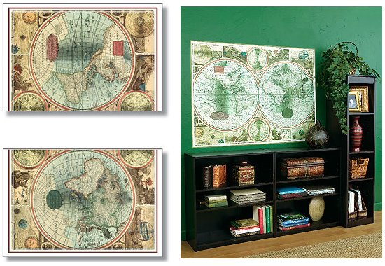 Wallies old world map big wall mural for Environmental graphics giant world map wall mural