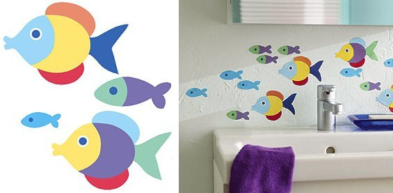 Wallies Olive Kids Something Fishy Cutouts - Kids Wall Decor Store