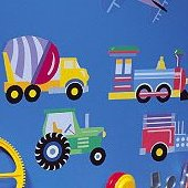 Wallies Olive Trains Planes and Trucks Cutouts