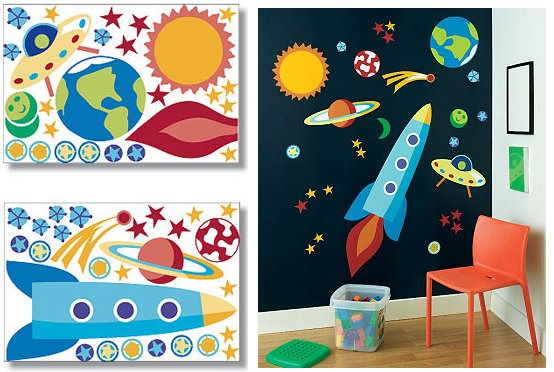 Wallies Out of This World Big Wall Mural - Wall Sticker Outlet