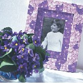 Wallies Purple Pansies Cutouts