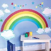 Cotton Candy Land Castle Wall Mural Sticker