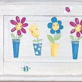 Wallies Silly Flower Pots Cutouts