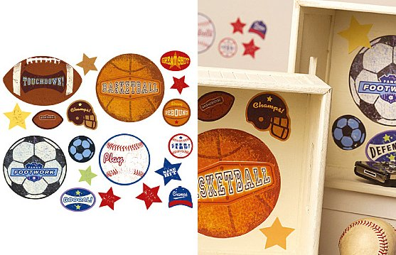 Wallies Sports Stamps Vinyl Decals - Wall Sticker Outlet