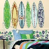 Wallies Surf Board Big Wall Mural