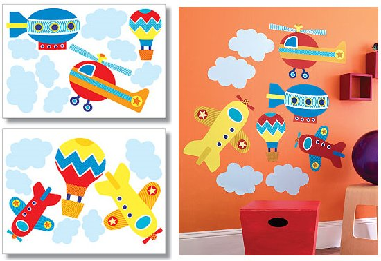 Wallies Up Up and Away Big Wall Mural - Kids Wall Decor Store