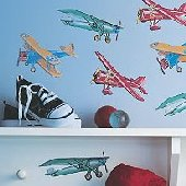 Wallies Vintage Airplanes Cutouts