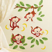 Baby Monkeys Peel and Stick Decals