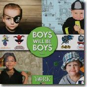 Boys will be Boys Wall Paper