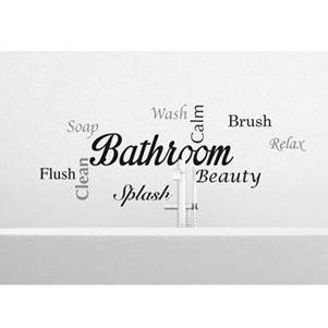 Bathroom Wall Sayings Wall Decals - Wall Sticker Outlet