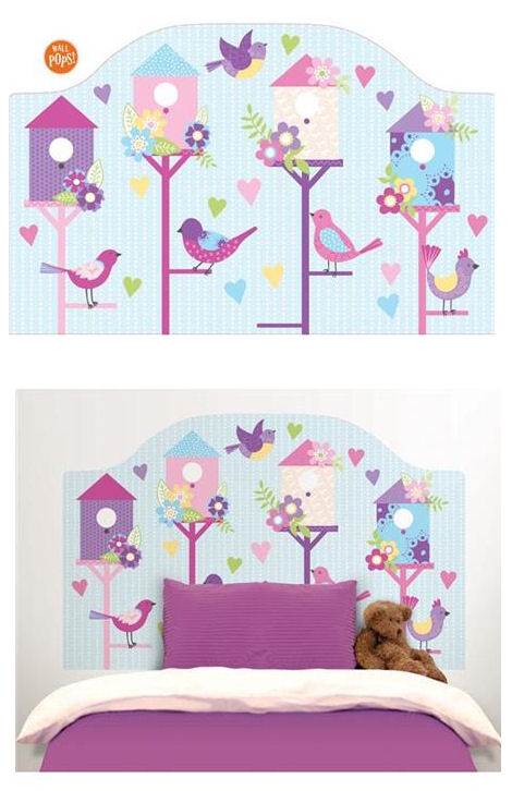 Chirping the Day  Away Peel Stick Headboard Decal - Wall Sticker Outlet