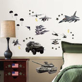 Military Peel and Stick Wall Decals