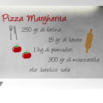 Pizza Margherita Recipe Wall Decals - Wall Sticker Outlet