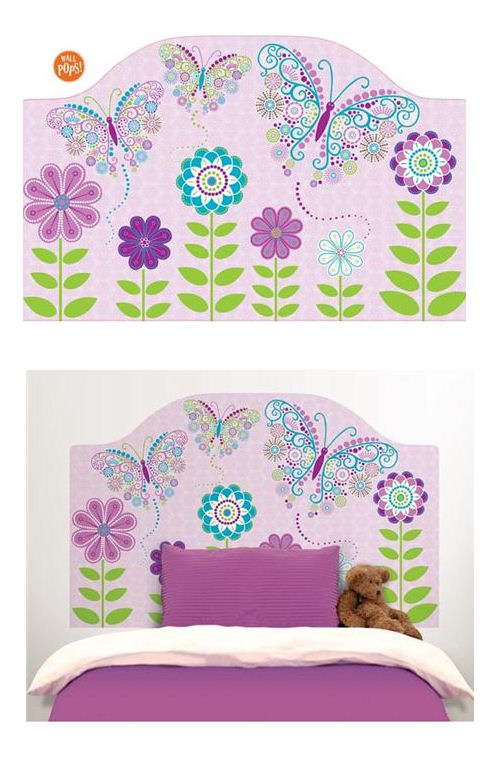 Social Butterfly Peel and Stick Headboard Decal - Wall Sticker Outlet