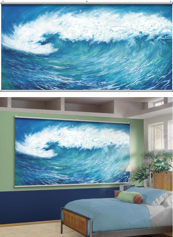Wave Minute Mural - Wall Sticker Outlet