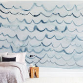 Minted Waves Repositionable Wall Mural