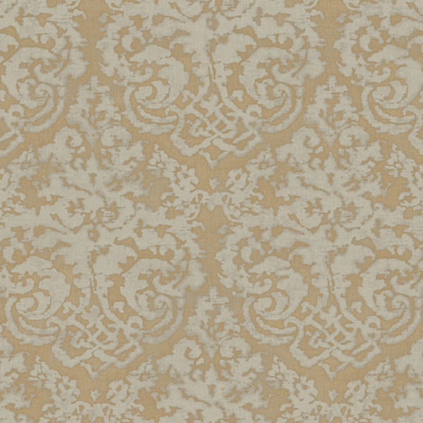 metallic gold textured damask wallpaper