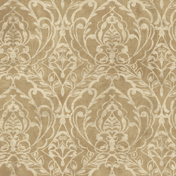 metallic gold laser cut damask wallpaper