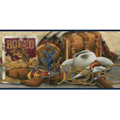 Western Still Life Border Navy