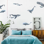 Urbanwalls Whales Wall Decals