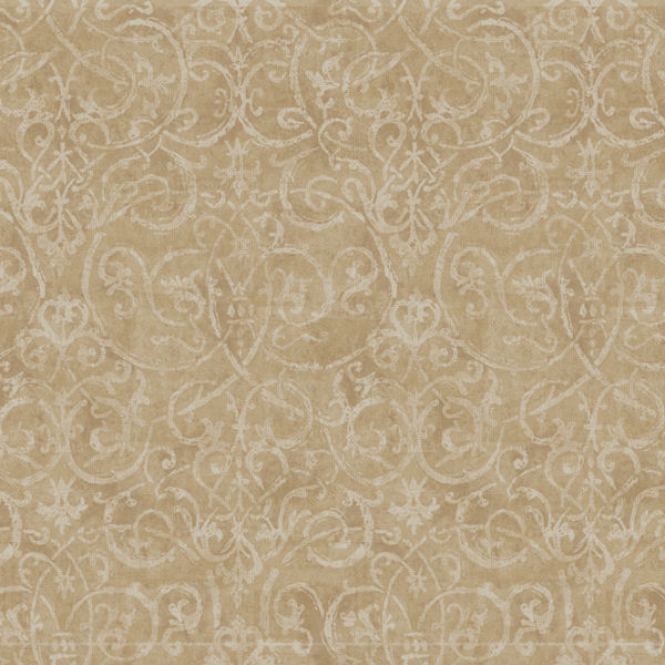 Beige And Cream Contemporary Scroll Wallpaper