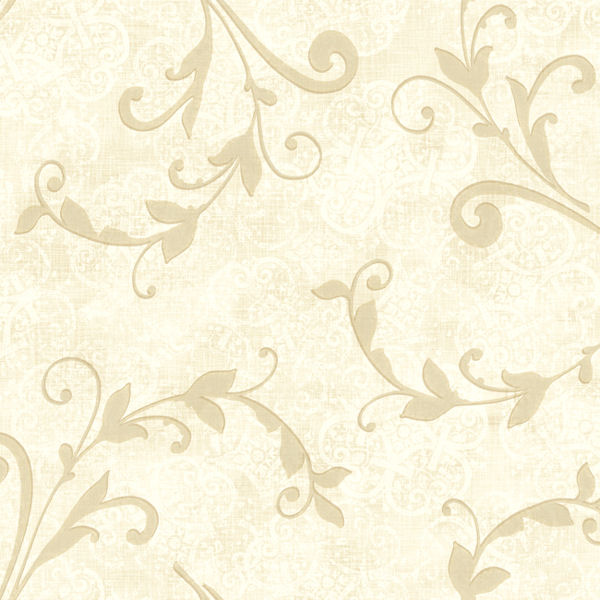 Cream and grey leafy scroll wallpaper for Grey and cream wallpaper