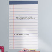 Giant Legal Pad Peel and Stick Dry Erase Board