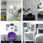 Zebra Accent Wall in a Box Decorating Kit SALE