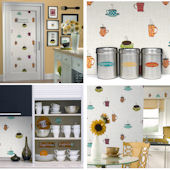 Bistro Cafe Wall in a Box Decorating Kit SALE