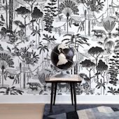 Aimee Wilder Charcoal Jungle Dream Wallpaper