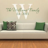 Family Personalized Capital Letter Monogram Decal