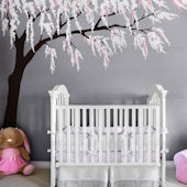 Custom Color Weeping Willow Tree Wall Decal