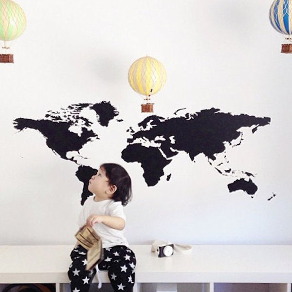 Urbanwalls World Map Wall Decals - Wall Sticker Outlet