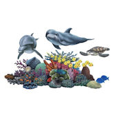 Coral Reef Tropical Wall Sticker Mural Two