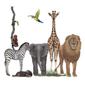Jungle Animals Wall Sticker Mural One