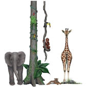 Jungle Animals Wall Sticker Mural Two