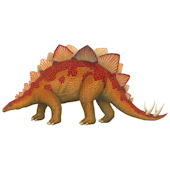 Stegasaurus Medium Dinosaur Peel Stick Wall Mural