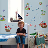 Ahoy Matey Pirates Peel and Stick Wall Decals