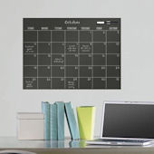 Black Dry Erase Wall Calendar Decal