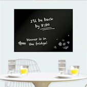 Large Black Dry Erase Wall Decal