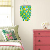 Wall Pops Pear Blue Chandelier