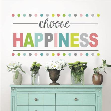 Choose Happiness Peel and Stick Wall Quote - Wall Sticker Outlet
