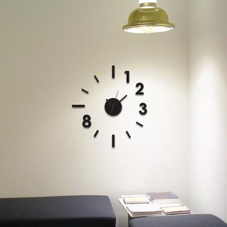 Wall Pops Contemporary Peel And Stick Wall Clock  - Wall Sticker Outlet