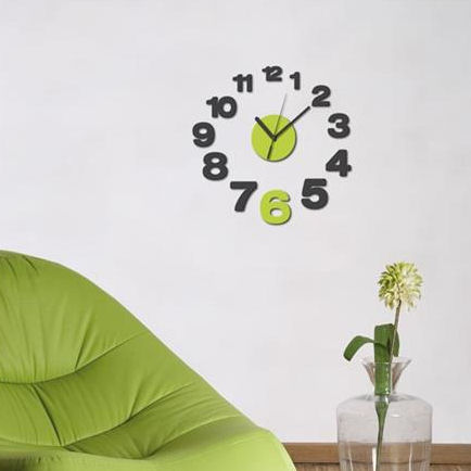 Wall Pops Growing Peel And Stick Wall Clock  - Wall Sticker Outlet
