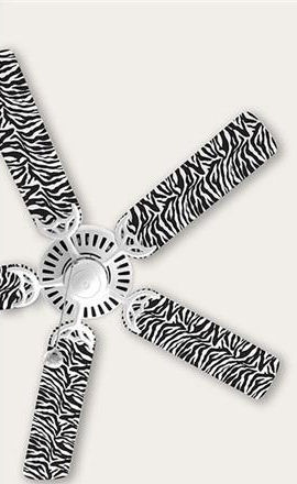 Wall Pops Zebra Ceiling Fan Blade Decals