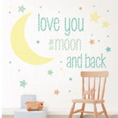 Wall Pops I Love You To The Moon Wall Quote Decals